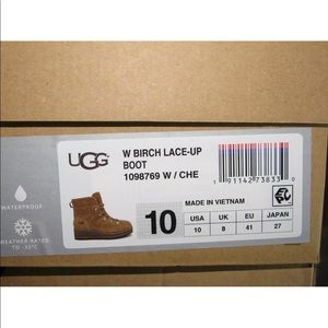 UGG Shoes - UGG BIRCH LACE-UP WATERPROOF SUEDE WEDGE BOOTS